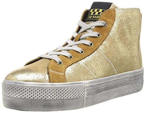 No Name Check Mid Cut Mercure Split - Zapatillas de deporte de cuero para mujer dorado Or (Gold/Safran) 36: Amazon.es: Zapatos y complementos