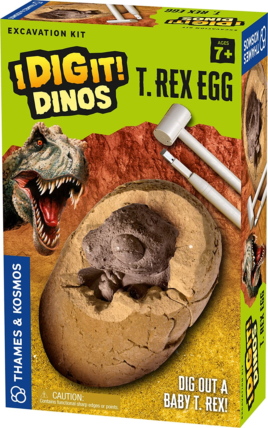 Thames & Kosmos I Dig It Dinos-T. Rex Egg Excavation Kit Science Experiment 630065