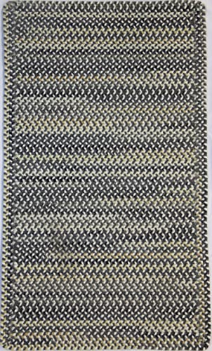 Capel Rugs Sherwood Forest Oval Braided Area Rug, 11 4 x 14 4 , Smoke