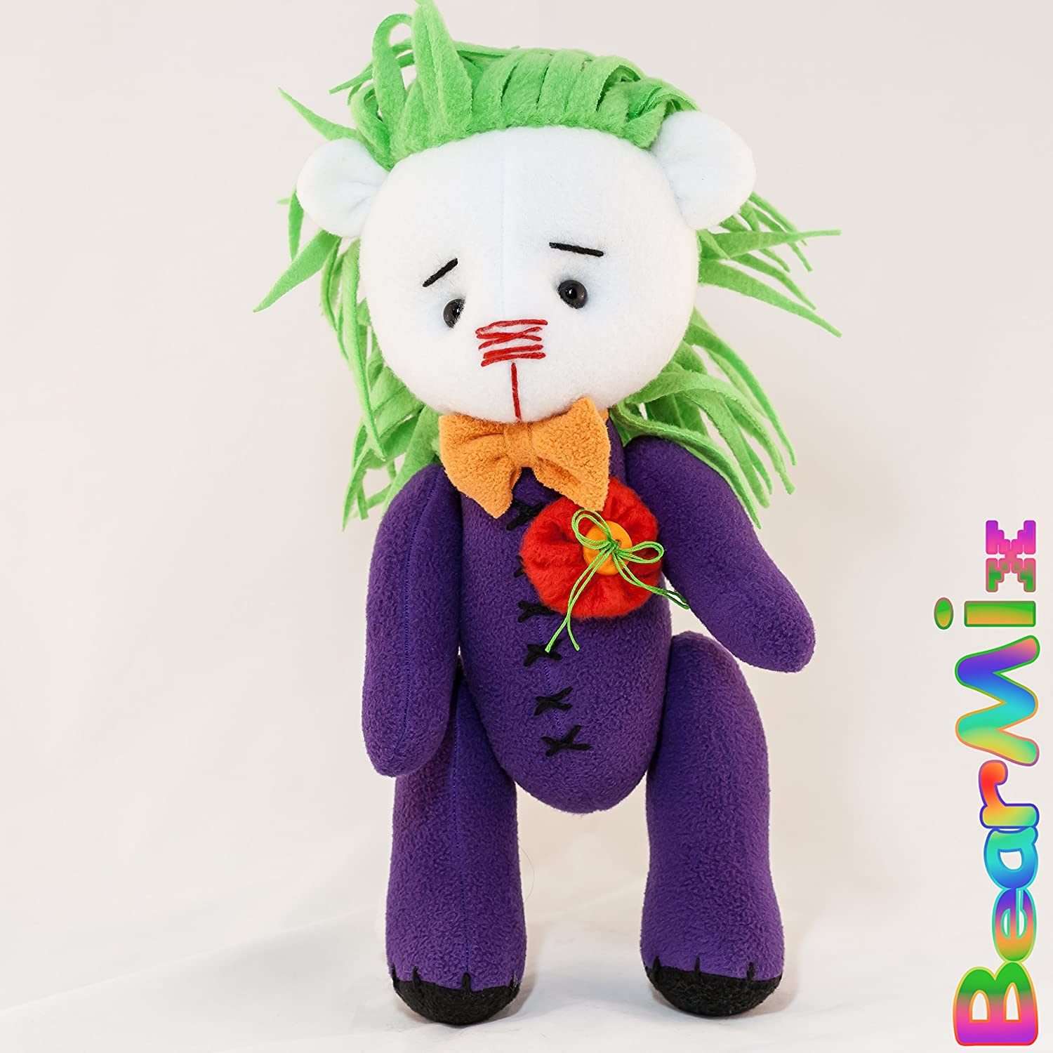 Joker bear - dc anti hero movie comic plush toy Injustice League Batman