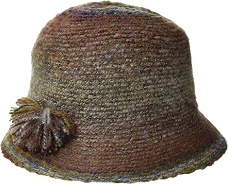 aa1154d38a6 San Diego Hat Company Women s KNH3612 Marled Yarn Cloche w Yarn Pom Rust  One Size at Amazon Women s Clothing store