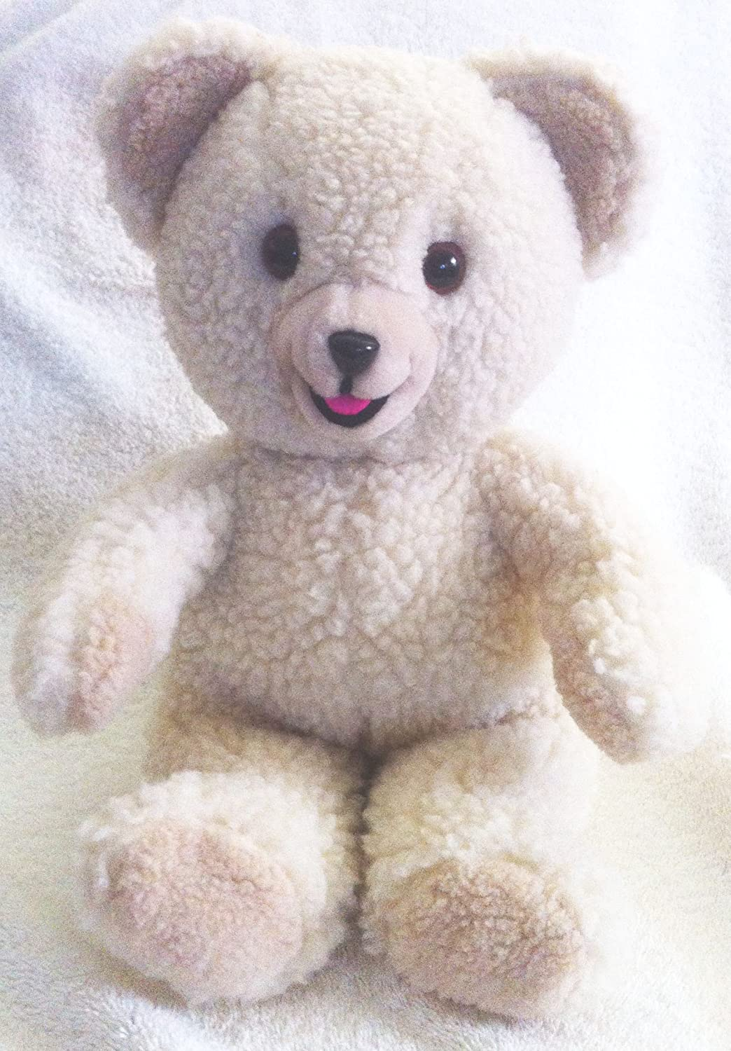 Vintage 1986 Small Snuggle Bear Toy with Night Cap in Great Condition