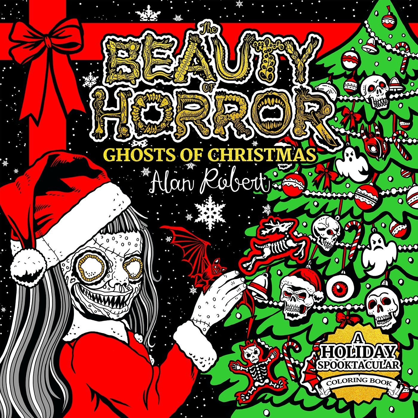 Beauty Horror Ghosts Christmas Coloring
