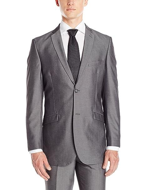 Amazon.com: Adolfo traje de Slim Fit MICRO Tech para hombre ...