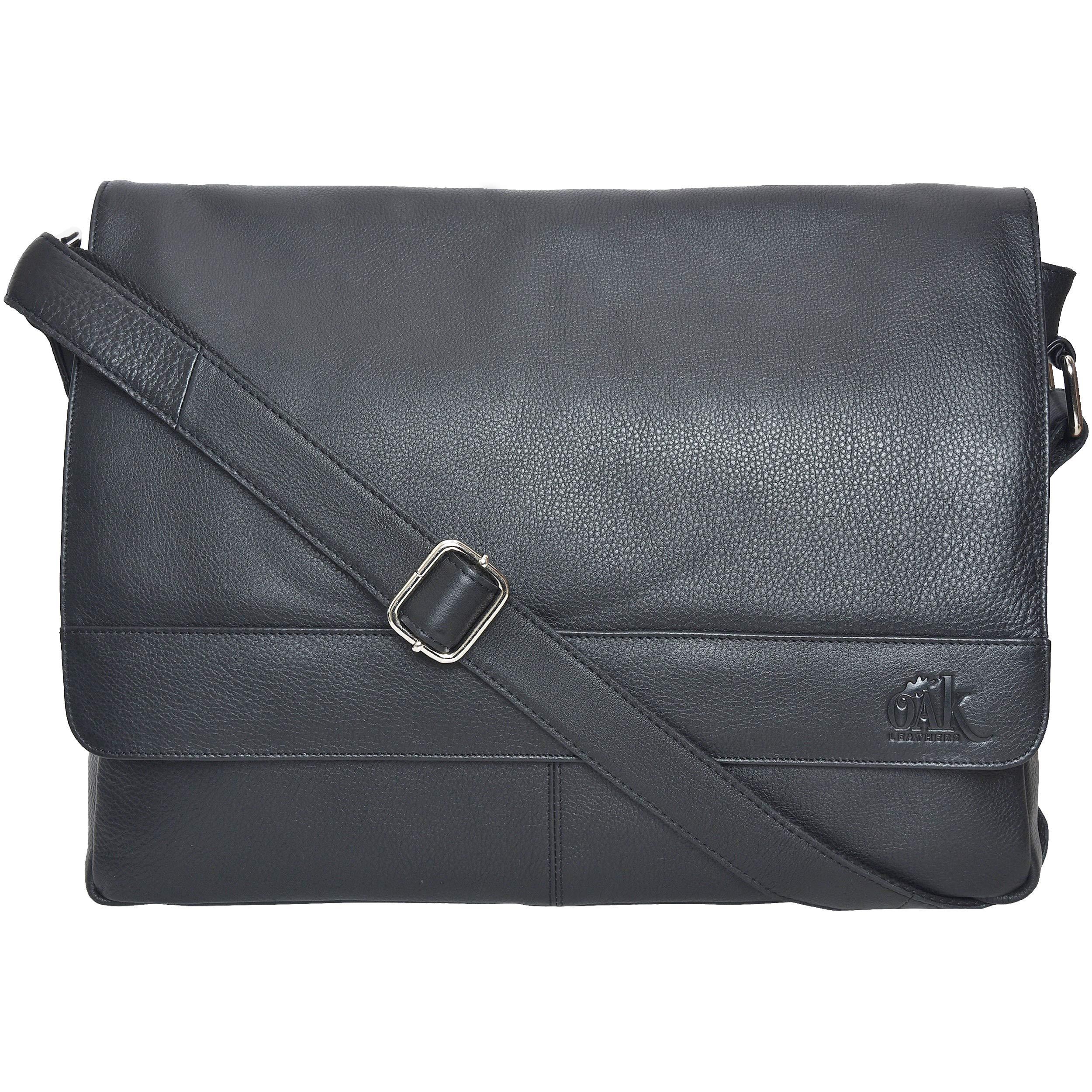 8a77dd13ea Leather Laptop Messenger Bag for Men -Office Briefcase 15
