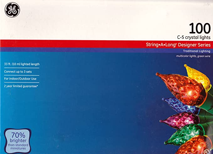GE C-5 Crystal Lights - String-A-Long Designer Series: Amazon.co.uk ...