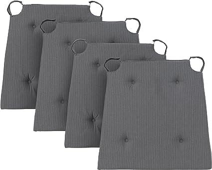 Nero Set di 2 Cuscino per Sedia Traumnacht Basis 40 x 42 x 4cm