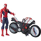 Hasbro Marvel Spider-Man-B9767EU4 Spiderman TitHero con Veicolo, b9767eu4