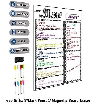 Semanal menú planificador de comidas, lista de la compra de ...