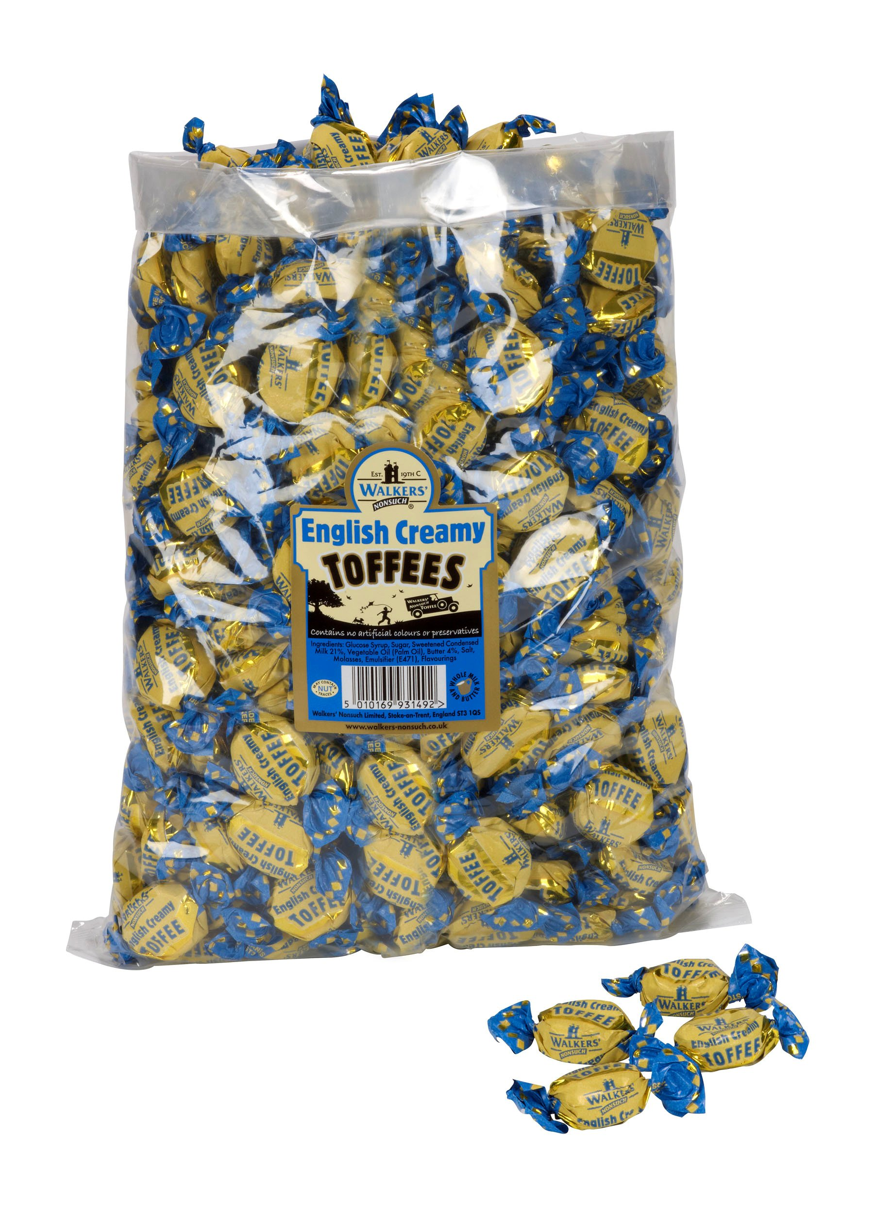 Walkers English Creamy Toffees, 5.5 Pound Bag by Walkers