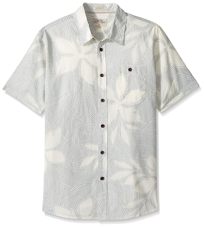 Quiksilver Waterman Mens Sunburst Tailored Fit Button Down Casual Shirt