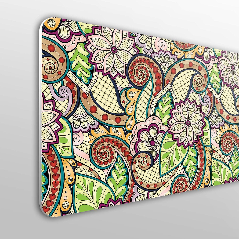 economica Motivo floreale con colori retr/ò. MEGADECOR decorativa 10 mm Testiera per letto in PVC
