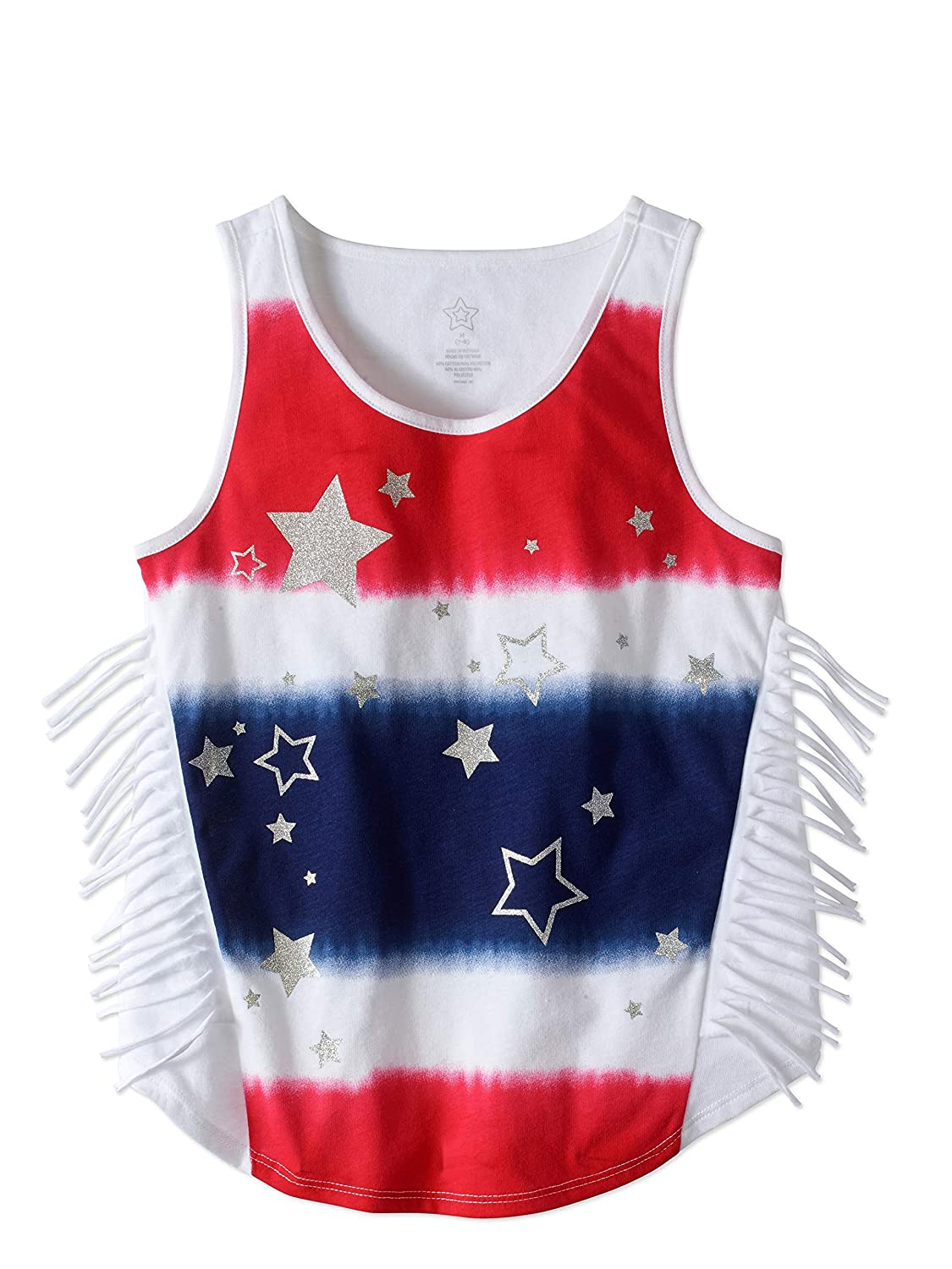 43cf05db04688a These adorable and soft tank top shirts are perfect for a girl s  Independence Day outfit. Available in sizes 4 5