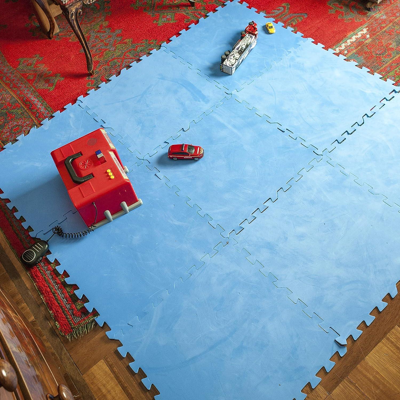 Color Azul 9 piezas 4,5 mm de Grosor Gre MPF509 Protector de Suelo para Piscina