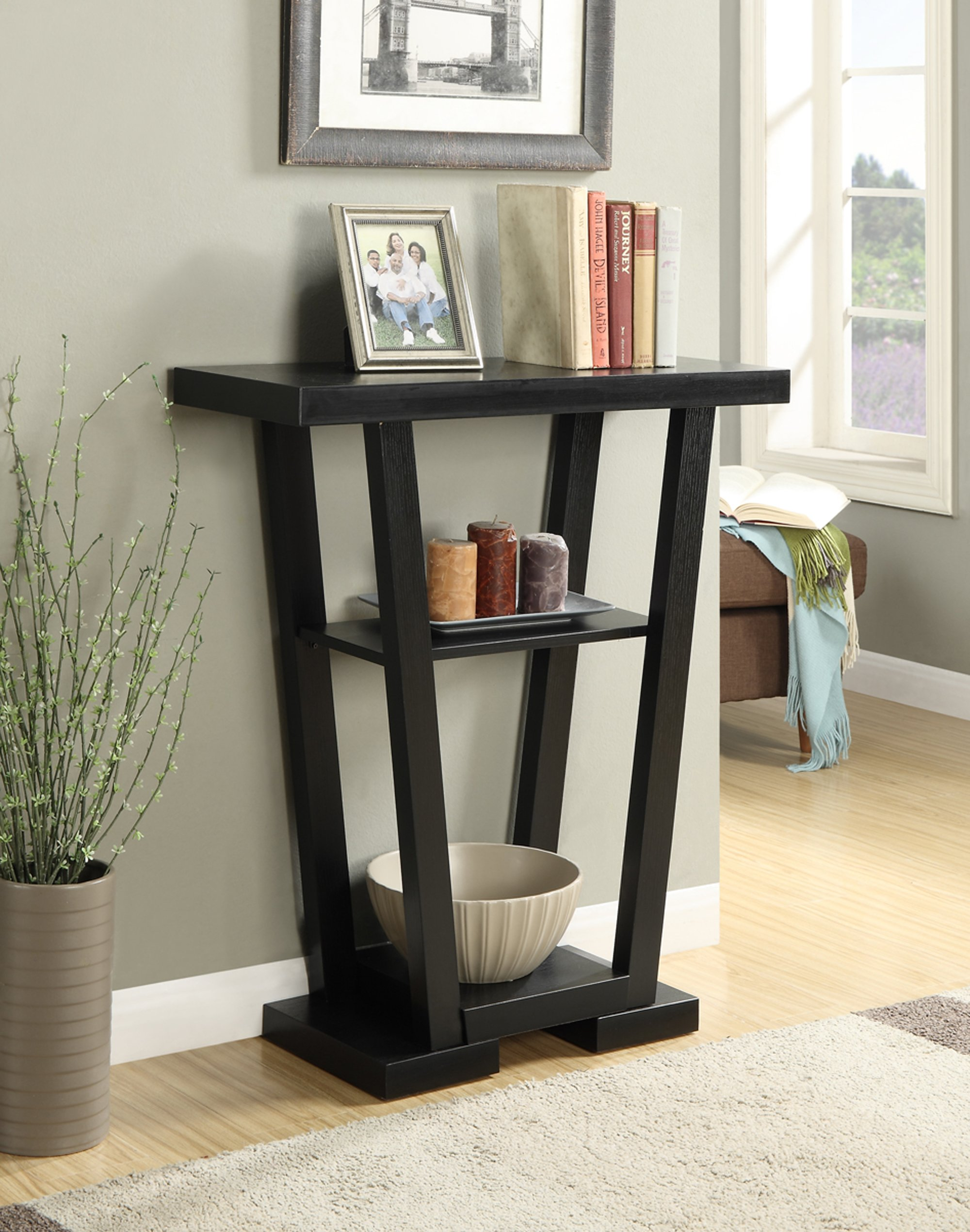 Convenience Concepts Newport V Console, Black by Convenience Concepts