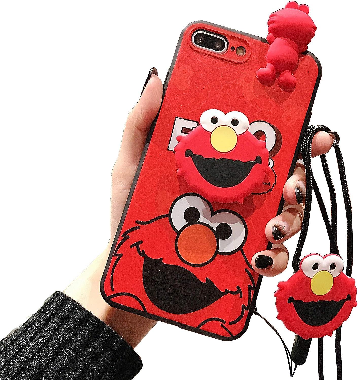 Sesame Street iPhone 8 Plus Case/iPhone 7 Plus Cute Cartoon Case for Kids Girls, 3D Animal Character Cover Case for Apple iPhone 7 Plus, iPhone 8 Plus 5.5