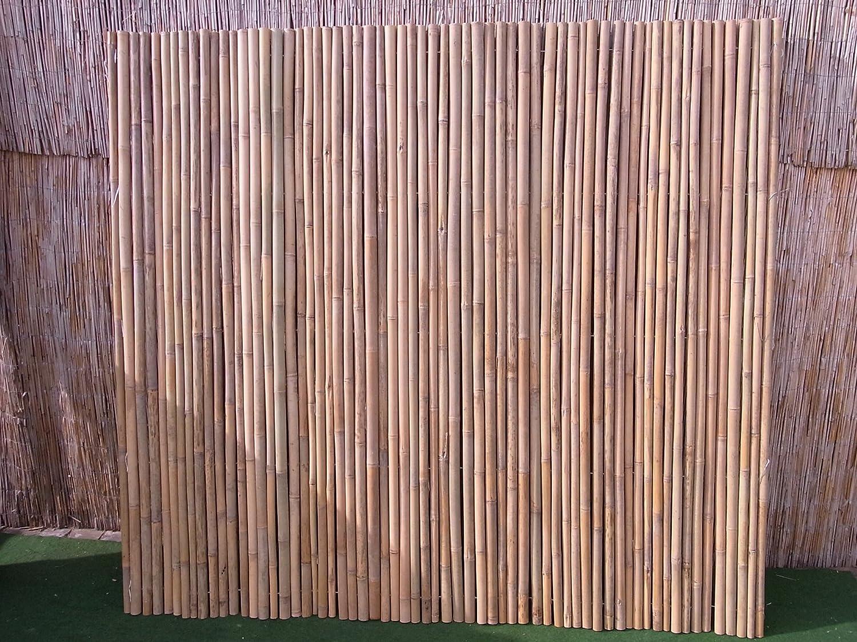 Bambusmatte Sichtschutz Bambus Gartenzaun Windschutz Sichtschutzmatte 200 x 200 Schilfrohrmatte Weidenmatte Rindenmatte