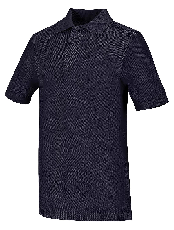 Classroom Big Boys Uniform Pique Short Sleeve Polo,Hunter Green,Large