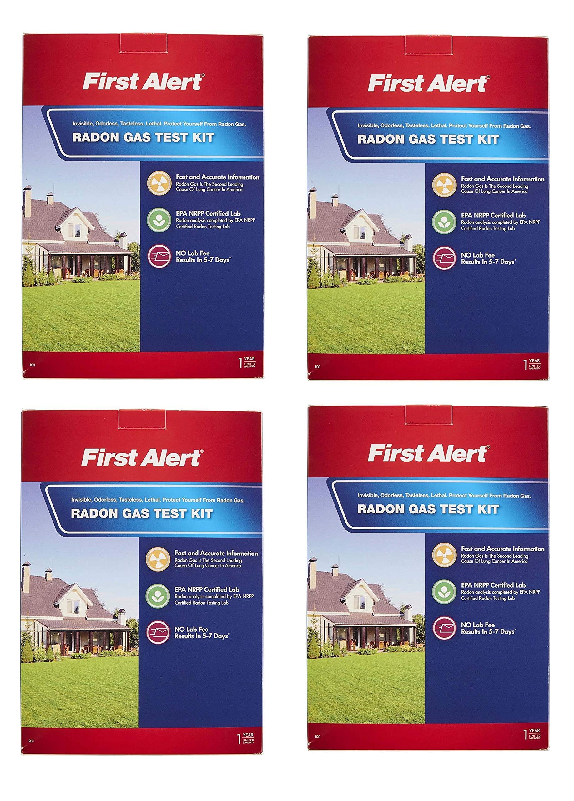 First Alert RD1 Radon Gas Test Kit (Fоur Расk)