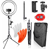 Emart 18 inch Dimmable Ring Light with Stand, 75W Fluorescent Flash Circle Lighting Kit for Photography, Makeup & Photo/Video Shooting in Studio, for Camera and iPhone