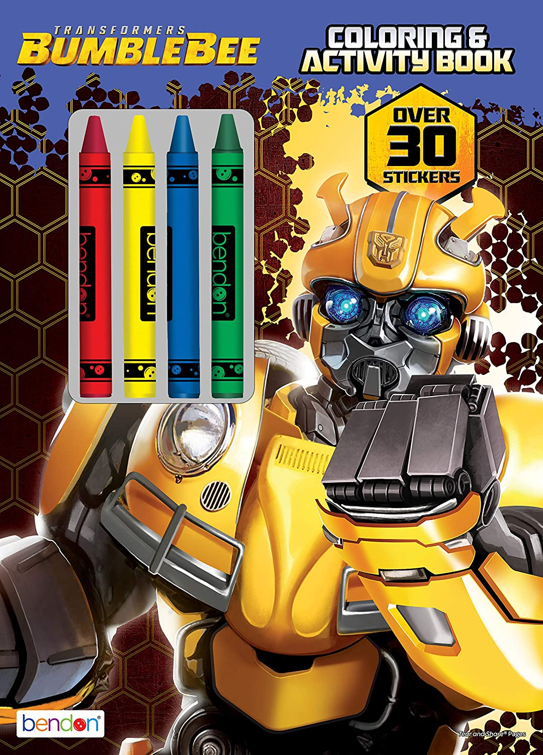 Bendon 43530 Bumblebee Coloring And Activity Book With Crayons Toys Games Amazon Canada