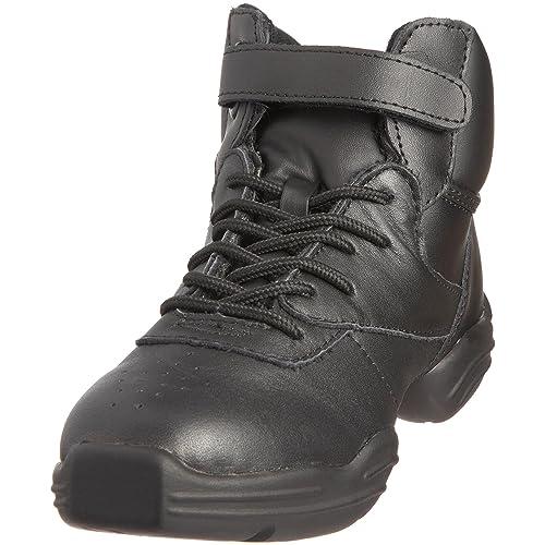Capezio - Zapatos de cordones de cuero unisex, Negro (Black), 38.5 EU