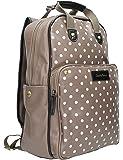 SwankySwans beau sac à dos essex iPad adapté à pois gris/taupe