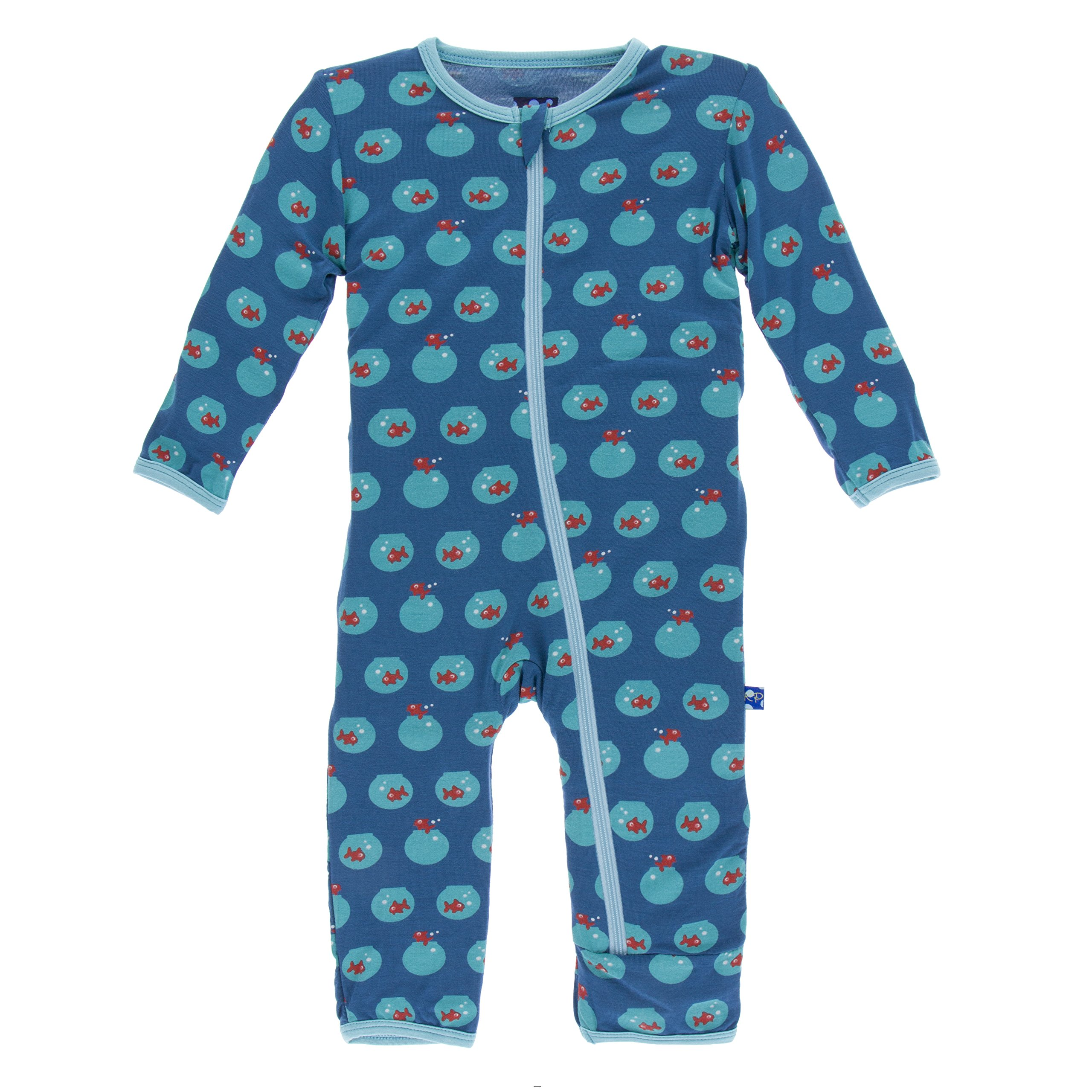 74842cfabdb8 KicKee Pants Bamboo Coverall with Zipper (3-6 Months