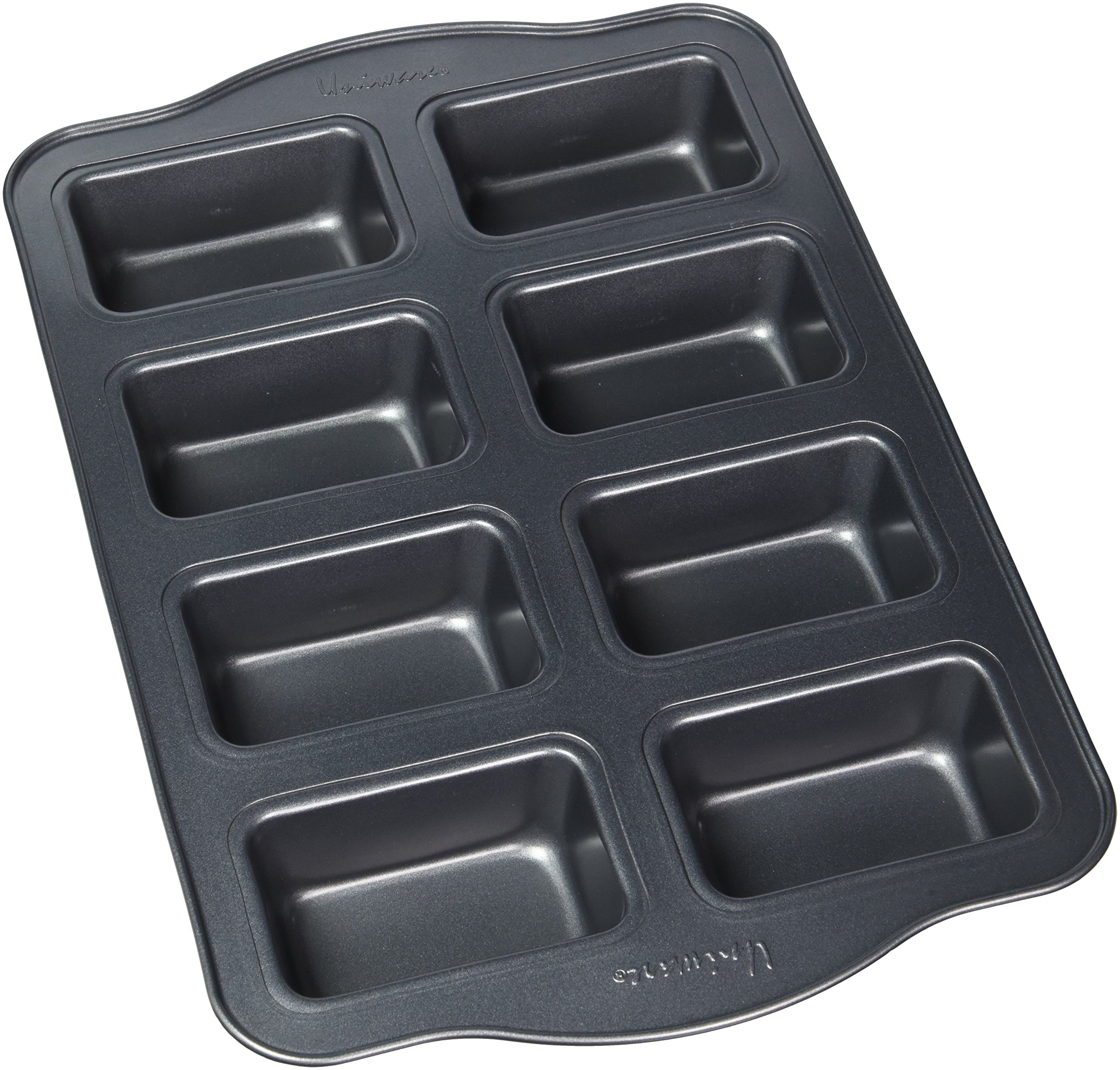 Uniware Nonstick Muffin Pan with Oversized Handles, Horma Antiadherente Para Muffins (8 Cups(Square))