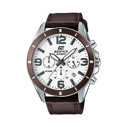 3313dfe13856 Casio Reloj Analógico de Cuarzo para Hombre con Correa de Cuero – EFR-553L