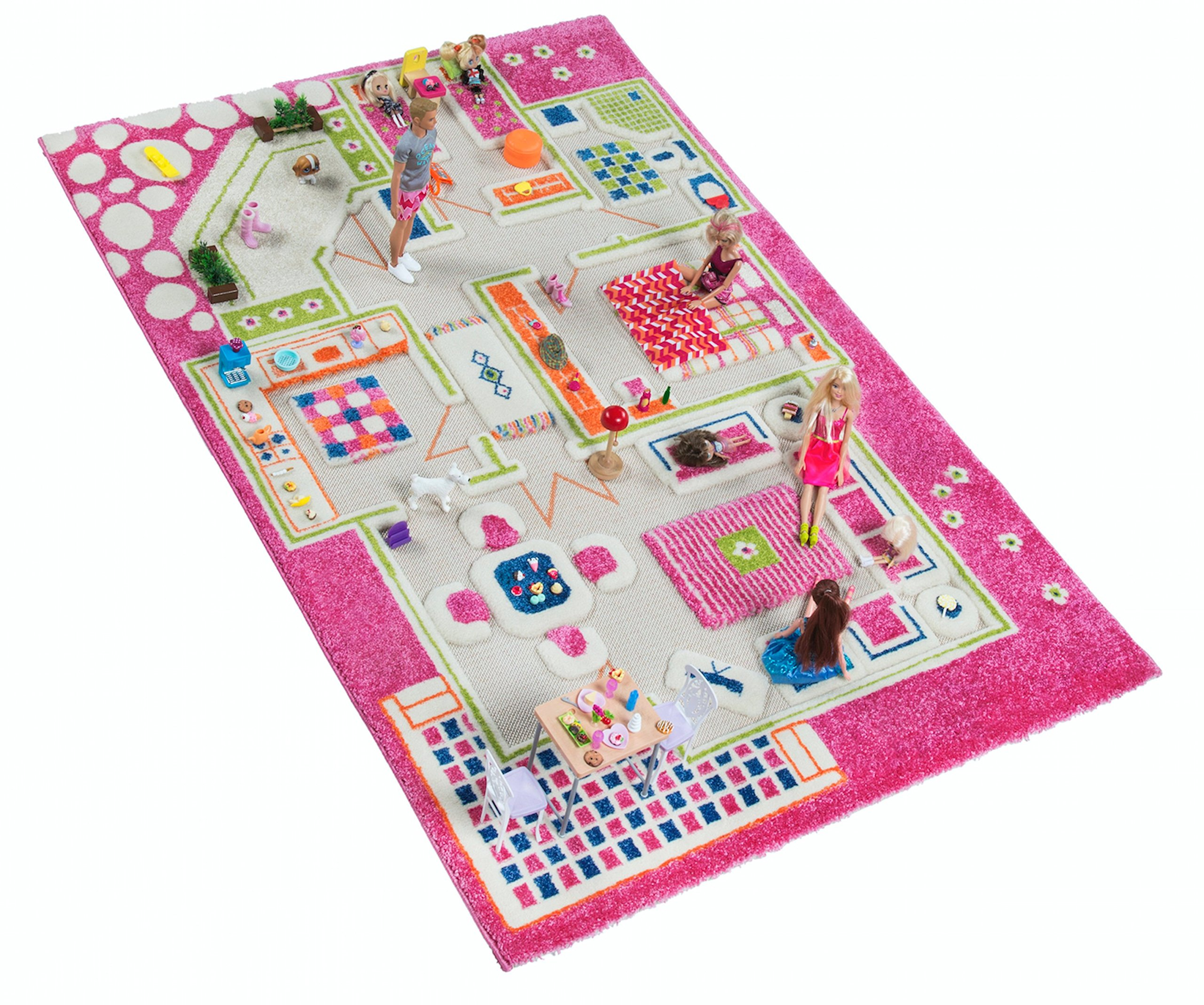 IVI Playhouse 3D Play Rugs, Medium, Pink