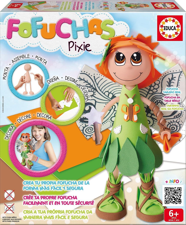 Educa Borrás Fofuchas - Pixie Hada, juego creativo 16115: Amazon.es: Juguetes y juegos