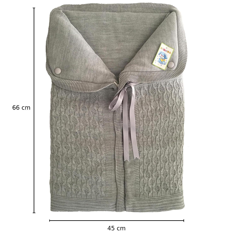 Saco de Dormir Bebe Bolso de Dormir Bebe para Cuna o Cochecito 66 x 45 cm (Gris o Rosa) Gris: Amazon.es: Bebé