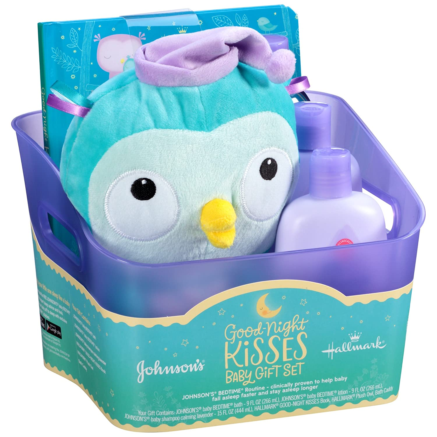 Amazon.com: Johnson\'s Bedtime Good-Night Kisses Baby Gift Set, 5 ...