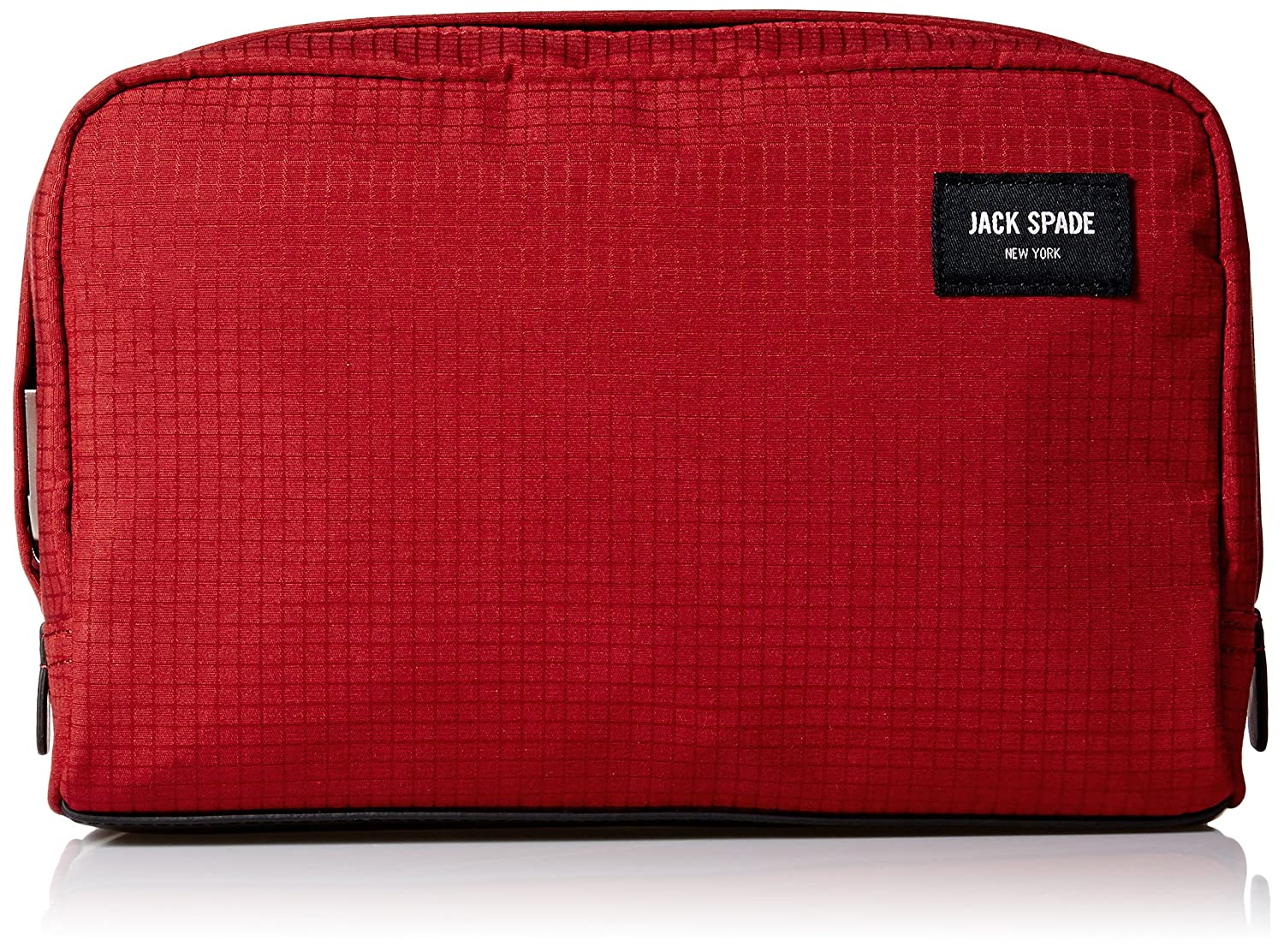 Amazon.com: Jack Spade Men's Solid Ripstop Slim Toiletry Kit, Red: Clothing