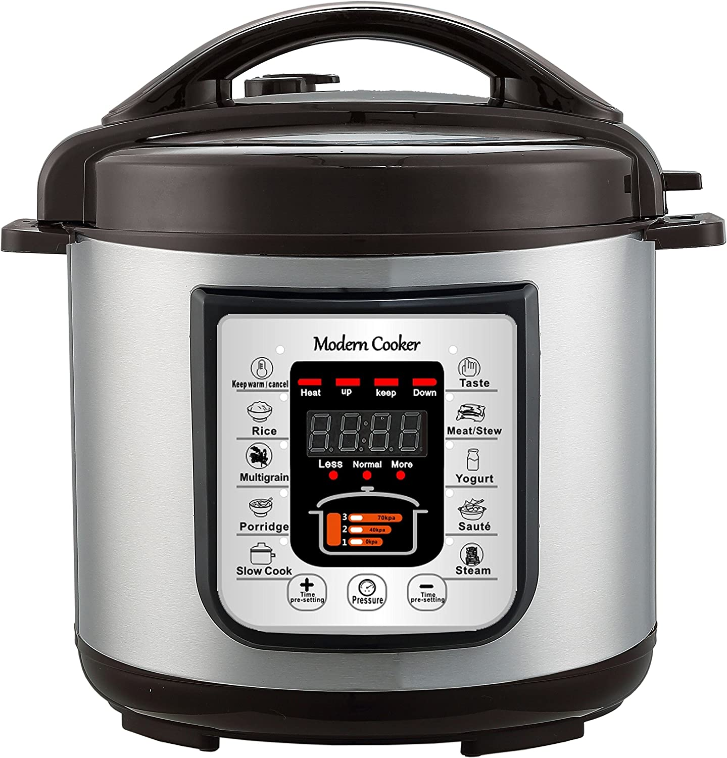 Modern Cooker BD-OJ-6L 1 Multi-Functional Electric Pressure Cooker, 6 quart, Silver