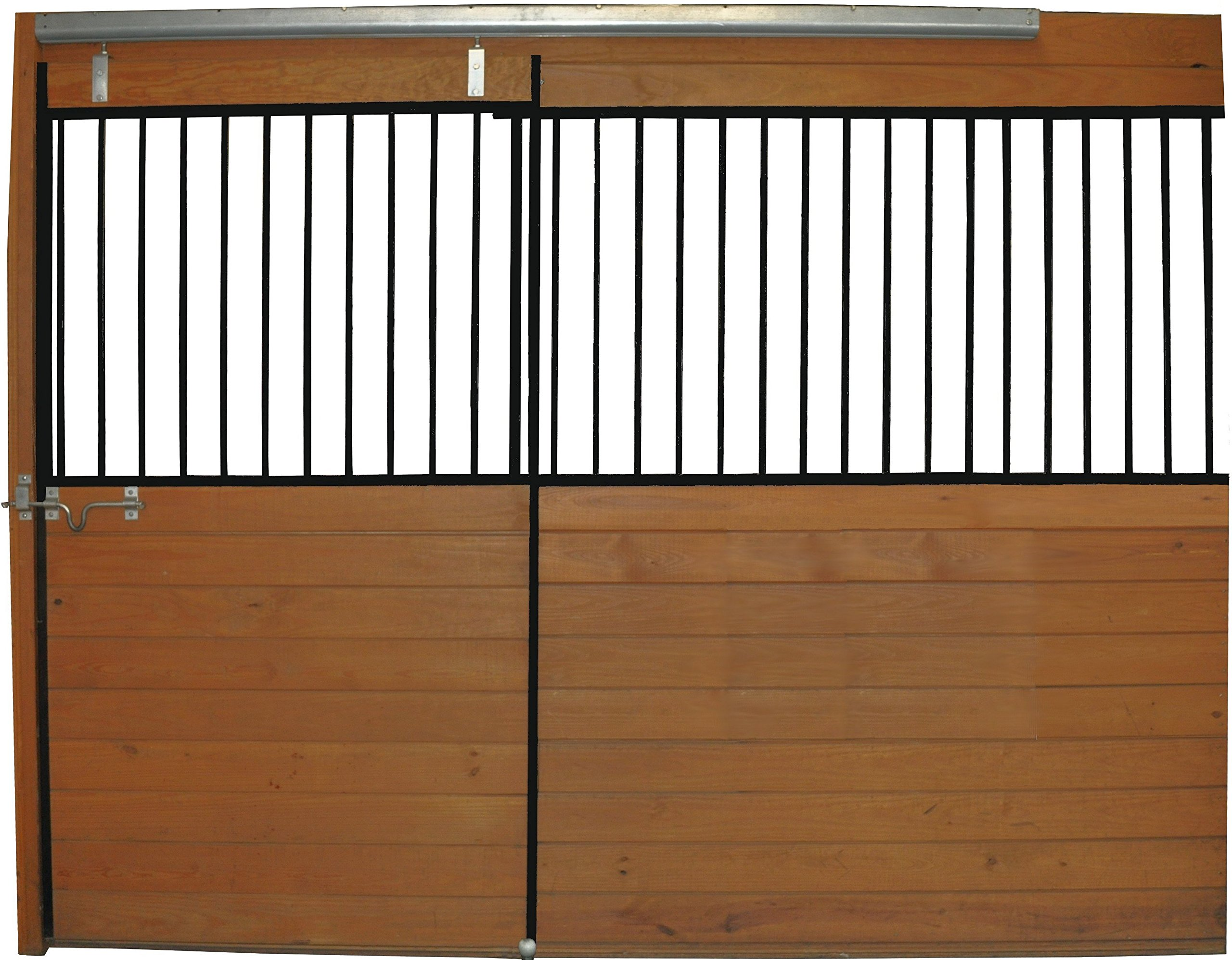 Country Manufacturing PS10GF 10ft Horse Stall Front Kit Black Enamel Coated Steel