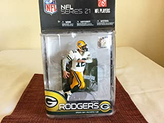 McFarlane Toys NFL Sports Picks Series 21 2009 Wave 2 Action Figure Aaron Rodgers (Green Bay Packers) White Jersey Variant