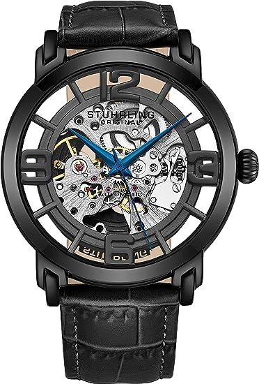 Espectacular reloj transparente negro para hombre.