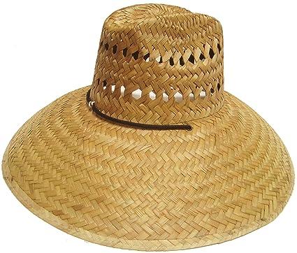 Headchange Wide Brim Lifeguard Hat Mexican Straw Beach Sun Summer Surf  Safari - - 901ad6b5add
