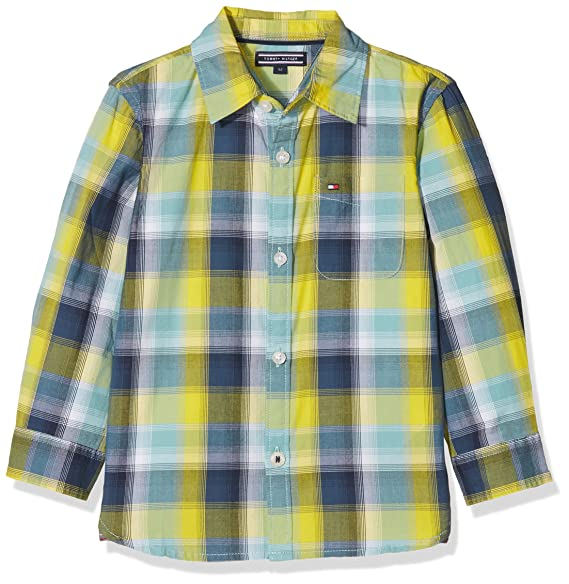 Tommy Hilfiger Jungen Hemd Multicolor CHK Shirt L S  Amazon.de  Bekleidung 00bea45ede