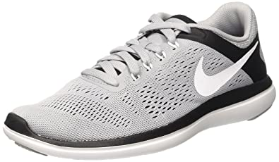 NIKE Men's Flex 2016 Rn Running Shoe Pure Platinum/Black/White 7 D(