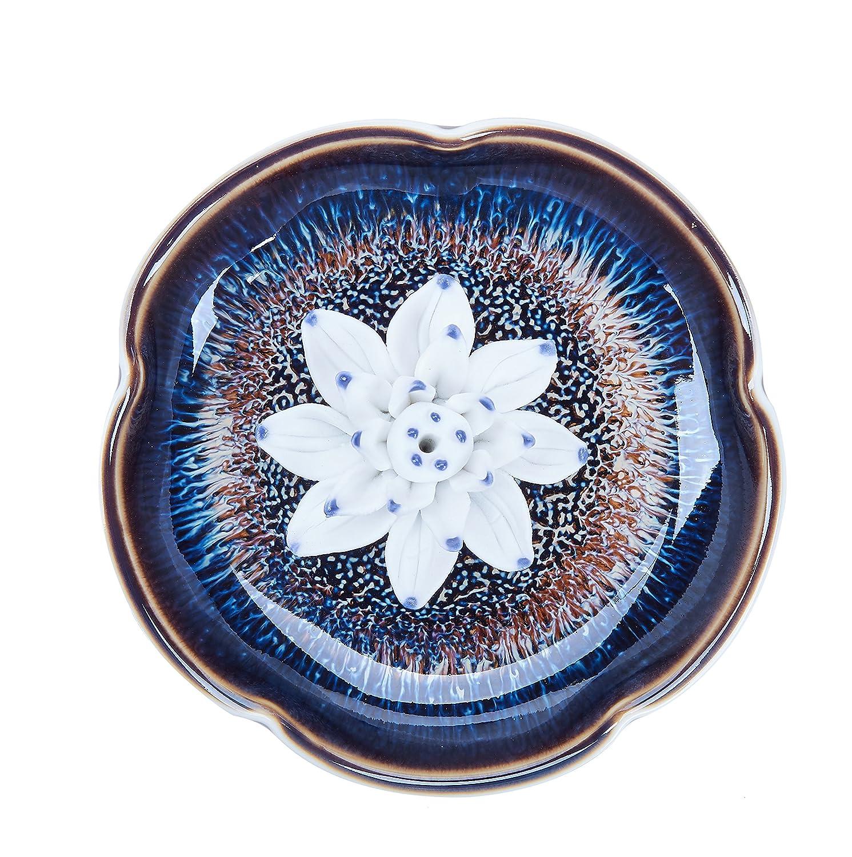 Uoon incense stick burner holder handmade ceramic lotus flower uoon incense stick burner holder handmade ceramic lotus flower incense burner bowl ash catcher tray plate izmirmasajfo