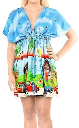 820befd4ce Happy Bay Women s Swimsuit Beach Cover up Dress Plus Blue A969 OSFM 14-24  L