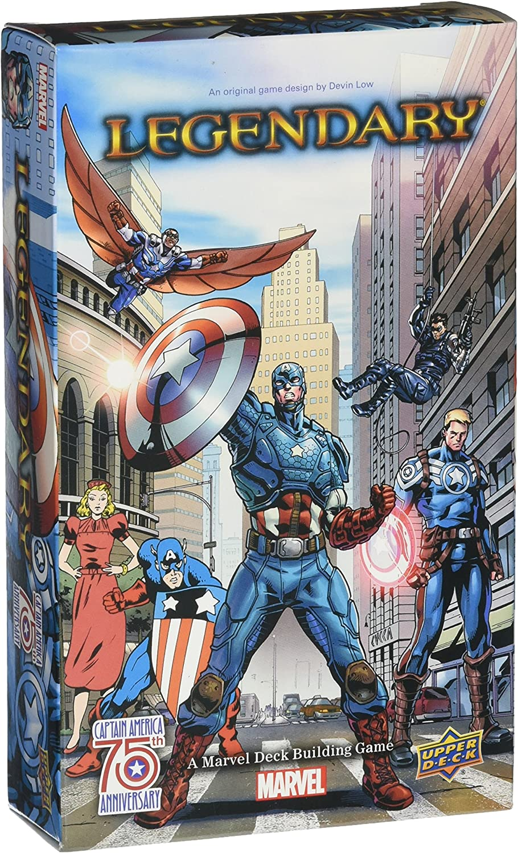 Legendary Marvel Deck Building Game: Captain America 75th Small Box Expansion: Amazon.es: Juguetes y juegos