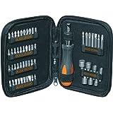 Black and Decker A7104-XJ - Kit de 56 piezas para atornillar con atornillador de carraca
