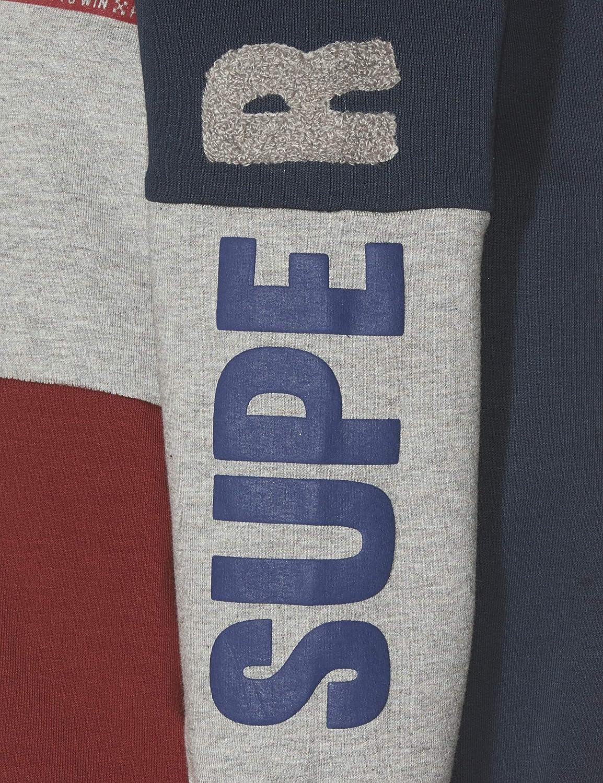 Name It Nmmnilas Ls Sweat Wh Bru Box Shirt /À Capuche B/éb/é gar/çon