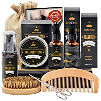 Beard Kit for Men Grooming & Care W/Beard Wash/Shampoo,2 Packs Beard Growth Oil,...