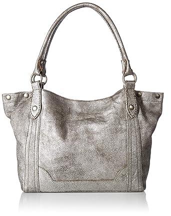 e82d1a45d2e FRYE Melissa Shoulder Leather Handbag, Silver: Amazon.in: Clothing ...