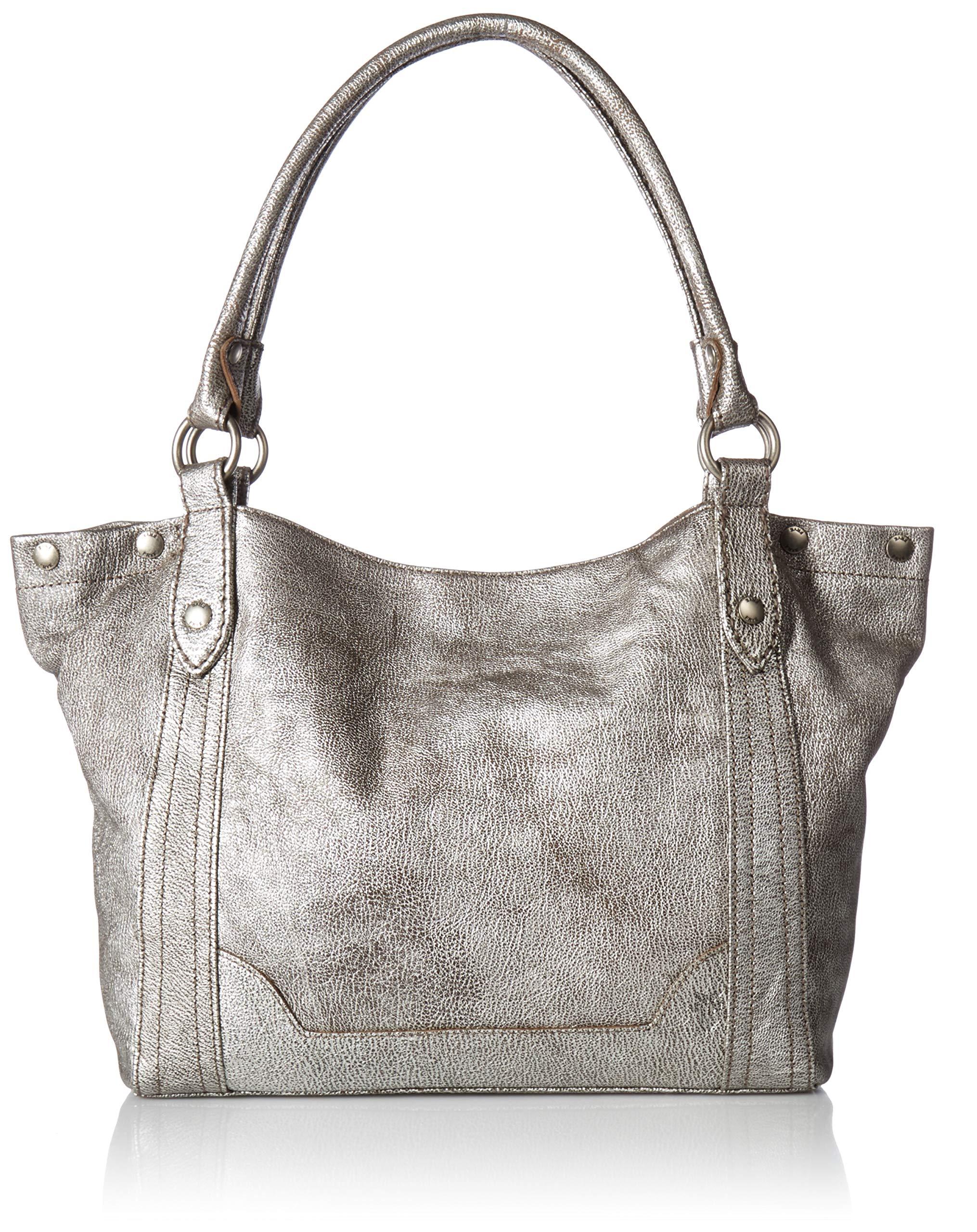 FRYE Melissa Shoulder Leather Handbag, Silver